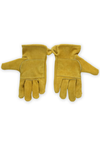 backside part of moto gloves, reinforced suede leather