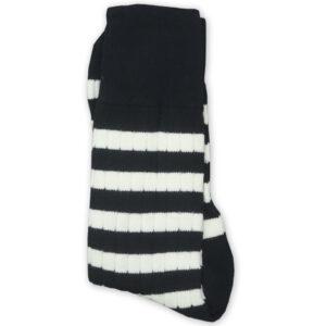 Stripes socks black and white