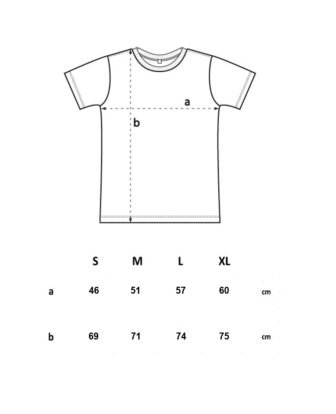 Machete Company stripes tee measurements, width and high