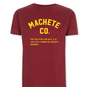 Camiseta granate machete Co. parte frontal