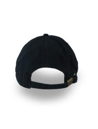 backside of black baseball cap