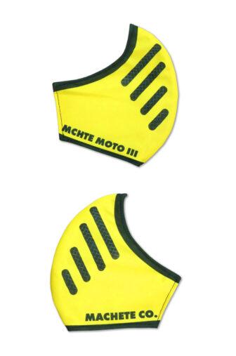 Mascarilla covid bell moto 3 en color amarillo