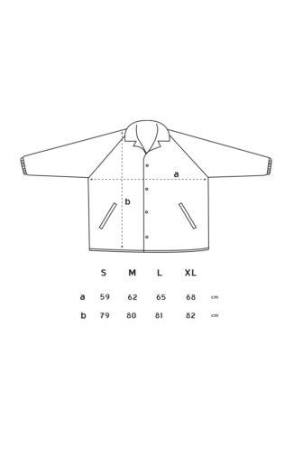 Medidas del cortavientos de skate, con manga ranglan y dos bolsillos laterales
