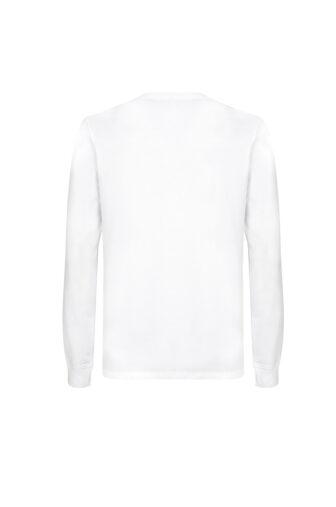 camiseta blanca manga larga espalda