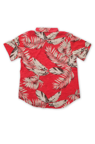 backside of hawaian red shirt