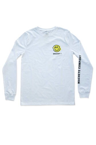 long sleeve tee with smile