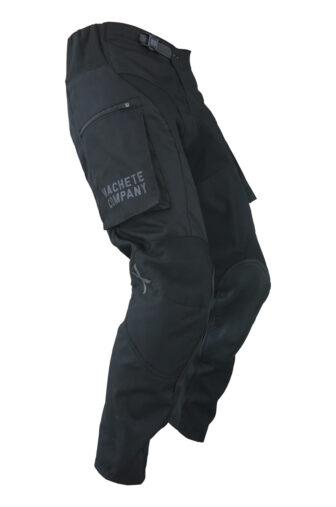 Black dirt bike pant with side pockets