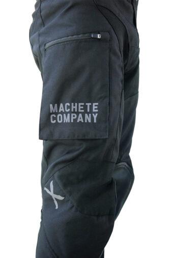 Pocket detail of black enduro pant