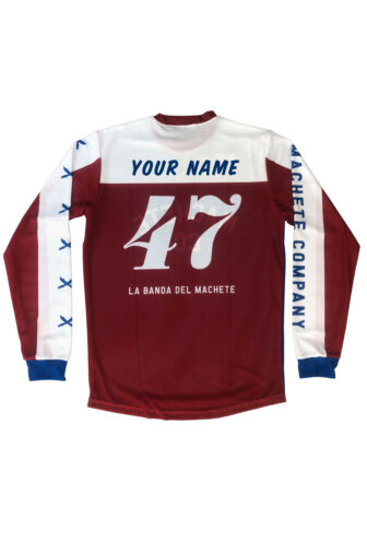 back of the flat track jersey micro-perforated