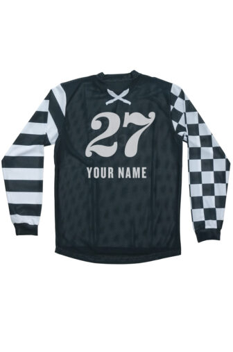 Back custom flat track jersey